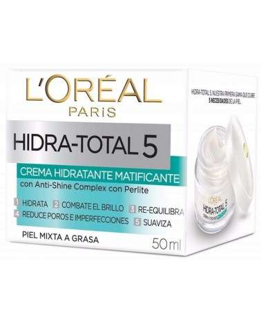 Crema matificante L´Oréal Paris Hidra total 5 x 50ml L'Oréal - 1