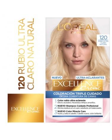 Tintura permanente Excellence Creme de L'Oréal París 120 rubio ultra claro natural x 47 GR  - 1