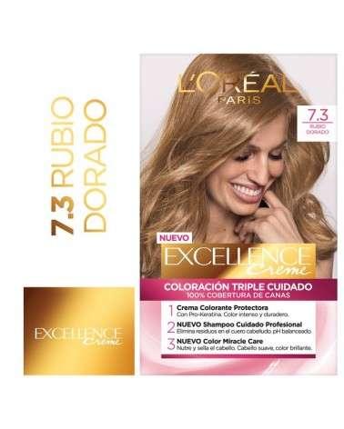Tintura permanente Excellence Creme de L'Oréal París 73 rubio dorado x 47 GR  - 1