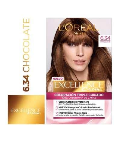 Tintura permanente Excellence Creme de L'Oréal París 634 chocolate x 47 GR  - 1