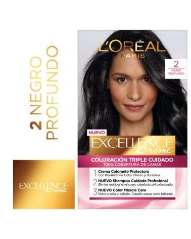 Tintura Permanente Excellence Creme De L'Oréal París 53 Castaño Claro Dorado X 47 Gr  - 1