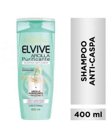 Shampoo Anti-Caspa Arcilla Purificante Elvive L´Oréal Paris 400ml Elvive - 1