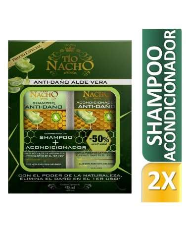 Tio Nacho PROMO Shampoo + Acondicionador Aloe Vera 415 ml Tio Nacho - 1