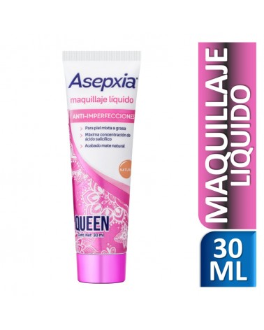 Asepxia Maquillaje Líquido Sexy Skin Natural 30 ml Asepxia - 1