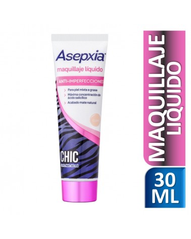 Asepxia Maquillaje Líquido Sexy Skin Claro 30 ml Asepxia - 1