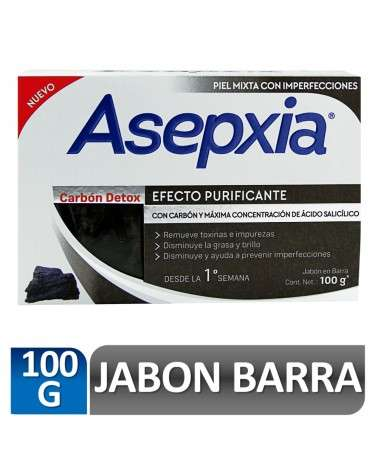 Asepxia Jabón Carbón 100 gr Asepxia - 2