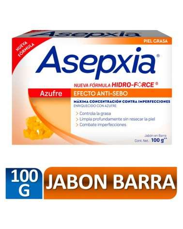 Asepxia Jabón Azufre 100 gr Asepxia - 2