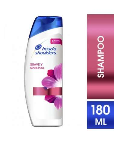 Shampoo Head & Shoulders Suave Y Manejable 180 Ml Head & Shoulders - 1