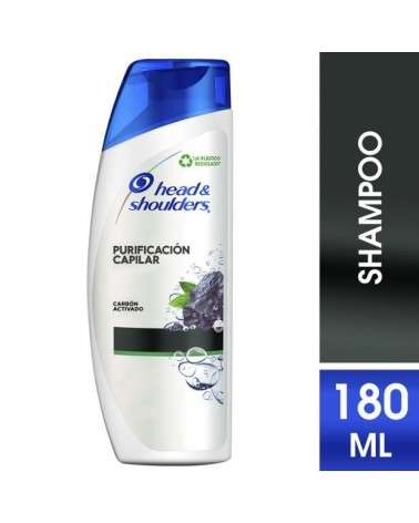 Shampoo Head & Shoulders Purificación Capilar Carbón Activado 180 Ml Head & Shoulders - 1