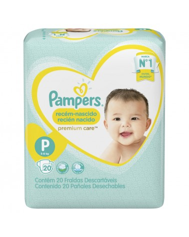 Pañales Pampers Premium Care P 20 Unidades Pampers - 1