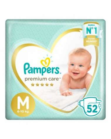 Pañales Pampers Premium Care M 52 Unidades Pampers - 1