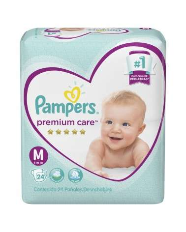 Pañales Pampers Premium Care M 24 Unidades Pampers - 1