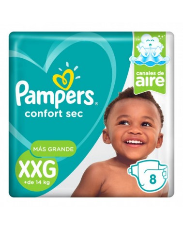 Pañales Pampers Confort Sec XXG 8 Unidades Pampers - 1