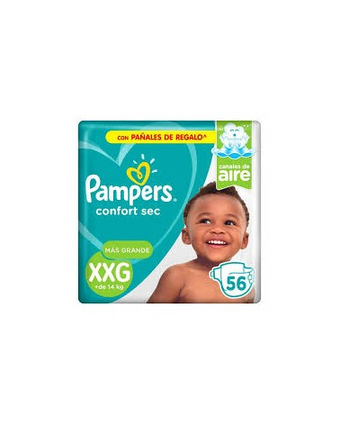 Pañales Pampers Confort Sec XXG 56 Unidades Pampers - 1
