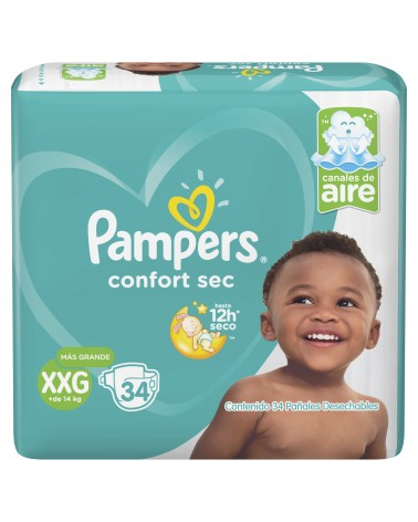 Pañales Pampers Confort Sec XXG 34 Unidades Pampers - 1