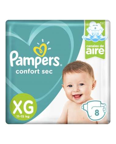 Pañales Pampers Confort Sec XG 8 Unidades Pampers - 1