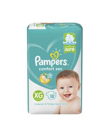 Pañales Pampers Confort Sec Xg 18 Unidades Pampers - 2