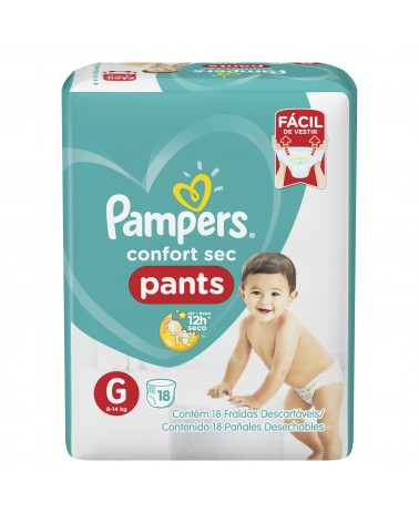 Pañales Pampers Confort Sec Pants G 18 Unidades Pampers - 1