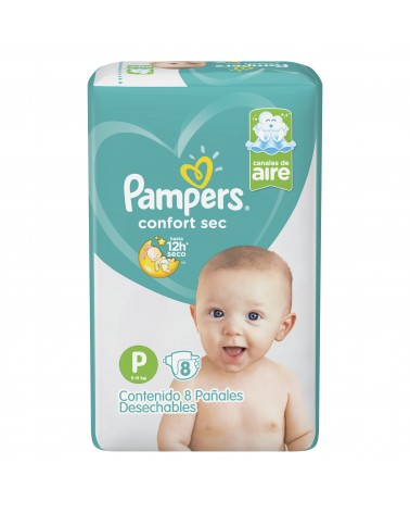 Pañales Pampers Confort Sec P 8 Unidades Pampers - 2
