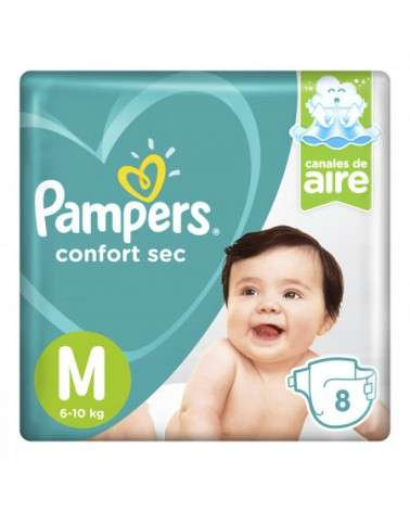Pañales Pampers Confort Sec M 8 Unidades Pampers - 3