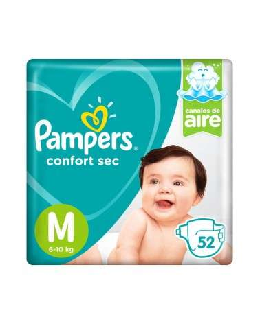 Pañales Pampers Confort Sec M 52 Unidades Pampers - 1