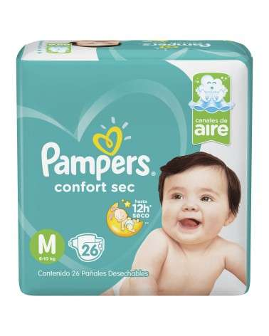 Pañales Pampers Confort Sec M 26 Unidades Pampers - 1