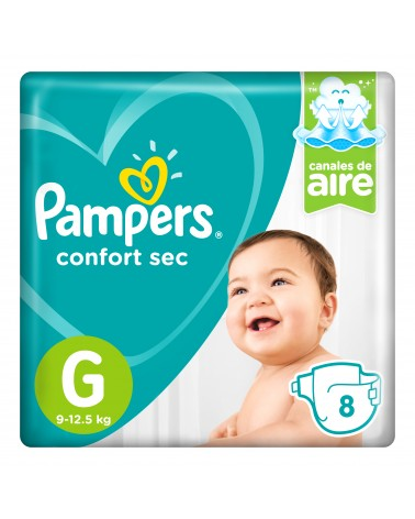 Pañales Pampers Confort Sec G 8 Unidades Pampers - 1
