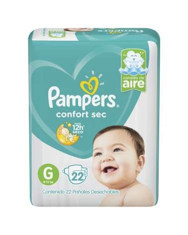 Pañales Pampers Confort Sec G 22 Unidades Pampers - 1