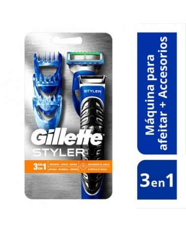 Kit Gillette Styler 3en1 Máquina Para Afeitar + 1 Cartucho Gillette - 1