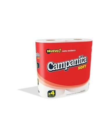 CAMPANITA - PAPEL HIGIENICO SOFT 30M X 4 ROLLOS CAMPANITA - 1