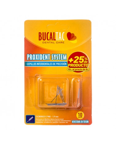 BUCAL TAC Cepillo Interdental - Cilíndrico X fino 1,9 mm 10 u. BUCAL TAC - 1