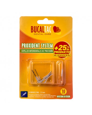 BUCAL TAC Cepillo Interdental - Cilíndrico Fino 2,5 mm 10 u. BUCAL TAC - 1