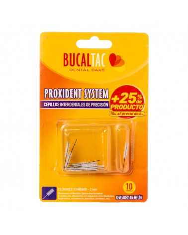 BUCAL TAC Cepillo Interdental - Cilíndrico Standard 3 mm por 10 u. BUCAL TAC - 1