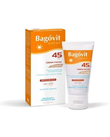 BAGÓVIT SOLAR FACIAL FPS45 CREMA CON COLOR X 50  - 1