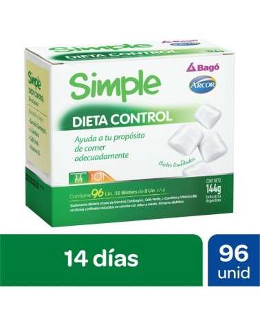 Simple - Dieta Control Chicles Pote X96 Unidades  - 1