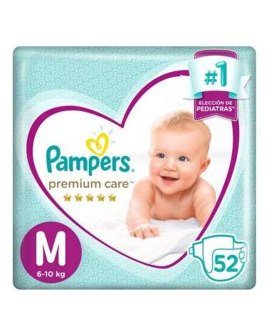 PAMPERS - PREMIUM CARE MEDIANO X52  - 1