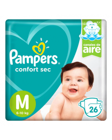 Pampers Confort Sec Mediano X 26  - 1