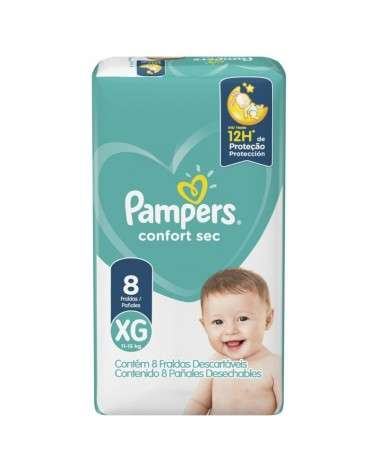 Pañales Pampers Confort Sec Max XG 8 Unidades Pampers - 1