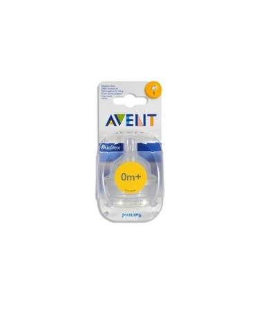 Avent Scf 631/27 Blister Tetinas Fluir Muy Lenta X2 0M+ 1 Orificios Avent - 1