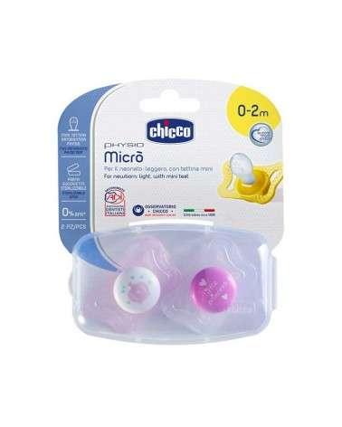 Chicco Chupetes Recien Nacido - Physio Micro 0-2M Nena X2 Chicco - 1