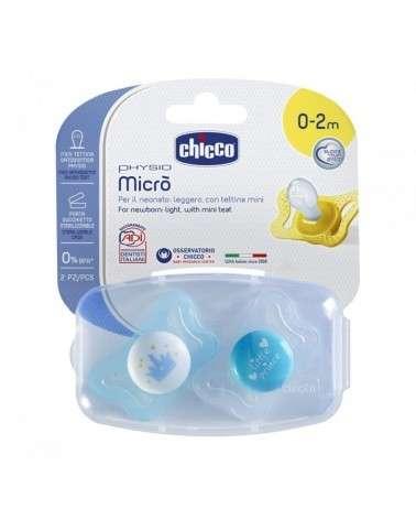 Chicco Chupetes Recien Nacido - Physio Micro 0-2M Nene X2 Chicco - 1