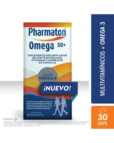Pharmaton Omega 50+ X 30 Caps. Pharmaton - 1