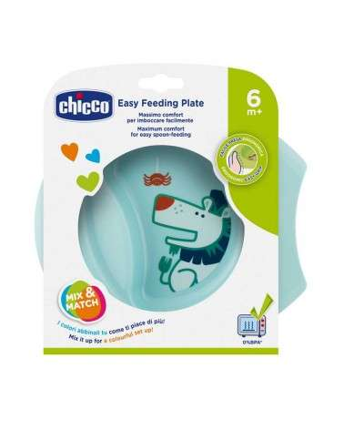 CHICCO Plato Easy Feeding +6M Celeste Chicco - 1