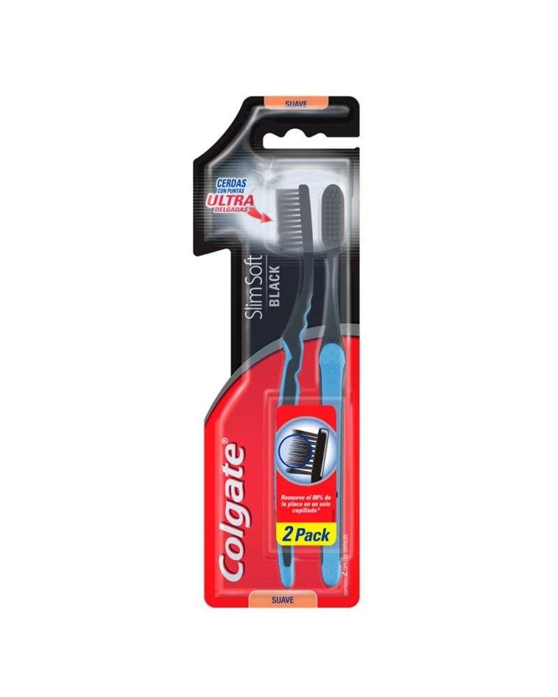 Colgate Cepillo Dental Slim Soft Black 2 unidades Colgate - 1