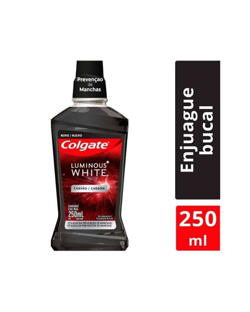 Enjuague Bucal Colgate Luminous White Carbón x250ml Colgate - 1