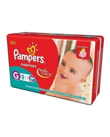 PAMPERS SUPERSEC PLUS G X 9 Pampers - 1