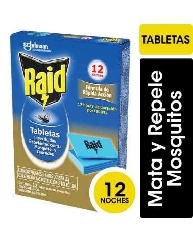 Raid Tabletas X 12u Rápida Acción Contra Mosquitos RAID - 1