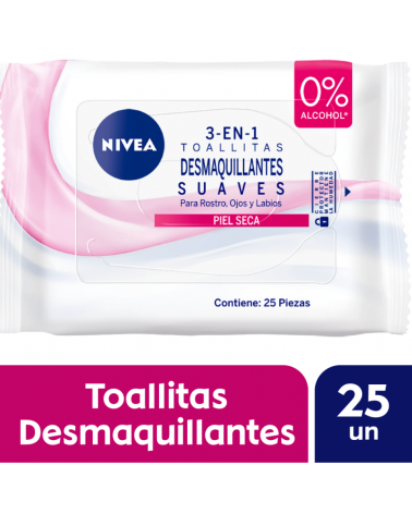 NIVEA Facial Toallitas Desmaquillantes Suaves 25 u. Nivea - 1