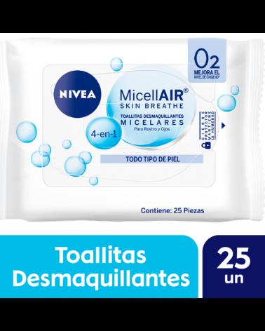 NIVEA Facial Toallitas Desmaquillantes Micelar 25 u. Nivea - 1