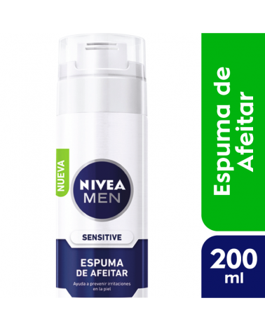 NIVEA Men Espuma de Afeitar Sensitive 200ml Nivea - 1